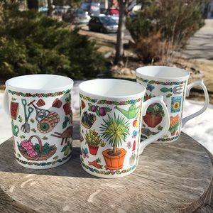 RARE vintage Duchess Fine English Bone China mugs
